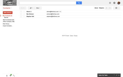 Old Google Contacts in legacy Gmail