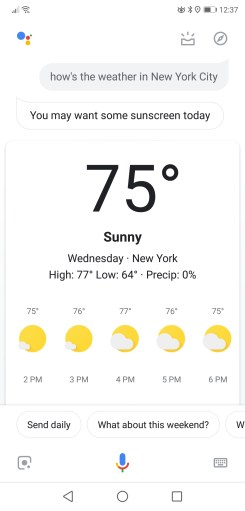 Google Assistant redesign weather