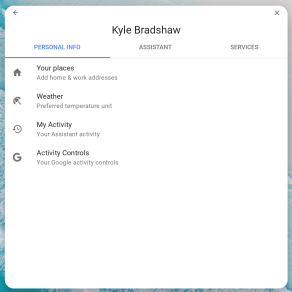 Android Pie for Chrome OS Assistant settings