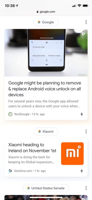 Google Discover web