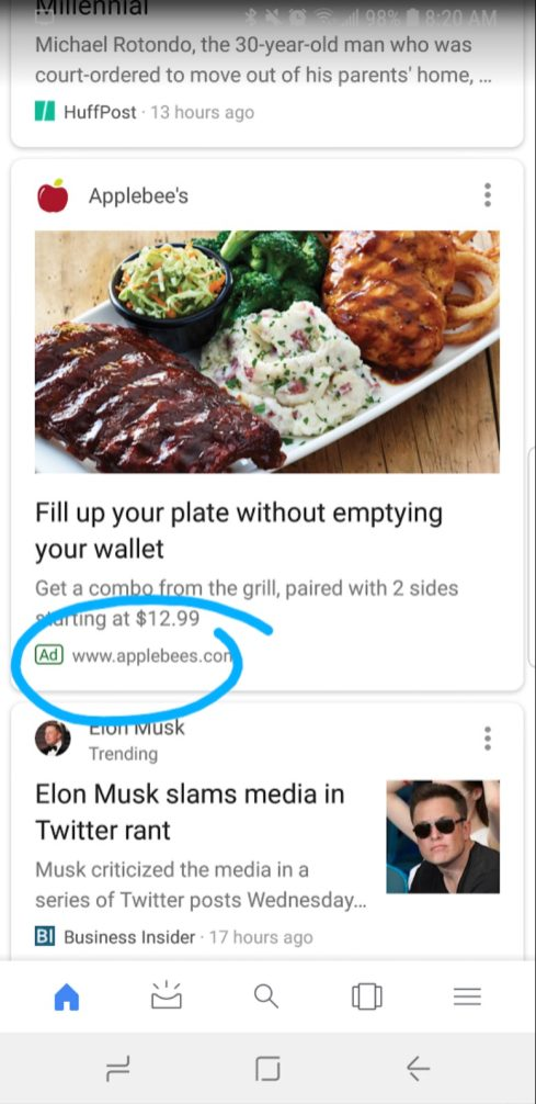 Google Feed ads
