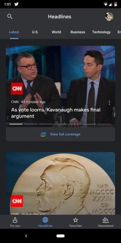 google news dark mode