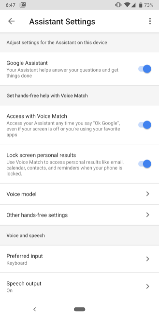 Android voice unlock