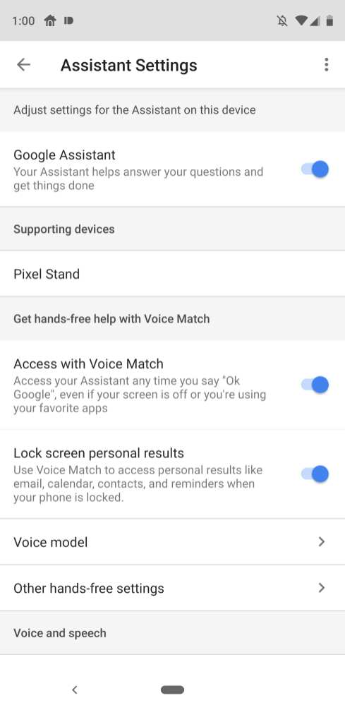 pixel 3 voice unlock pixel 3 settings