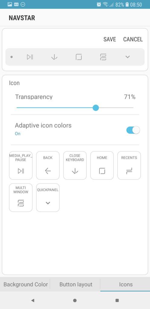 NavStar nav bar transparency