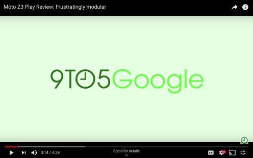 YouTube fullscreen video scrolling