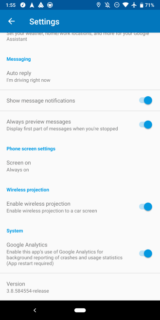 Android Auto 3.8
