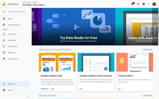 Google Analytics Material Theme