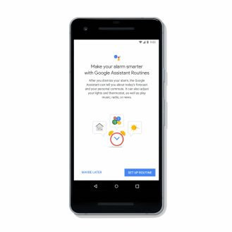 Google Clock Assistant Routines