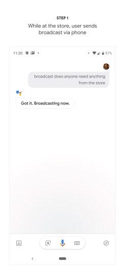 Google Home Broadcast Replies