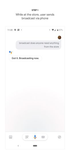 Google Home Broadcast Replies