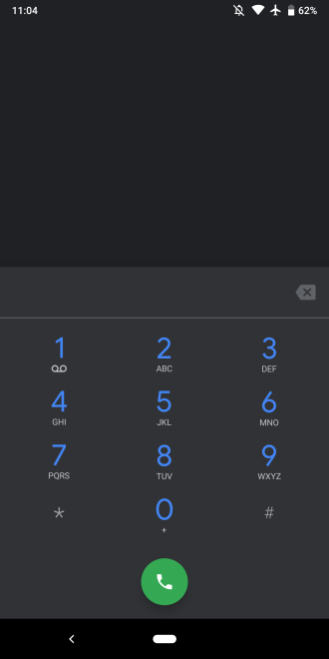 Google Phone dark theme