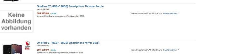 oneplus 6t thunder purple leak