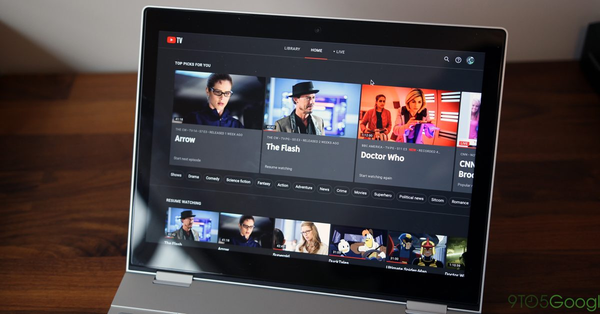 YouTube TV on the web now lets you control playback speed - 9to5Google
