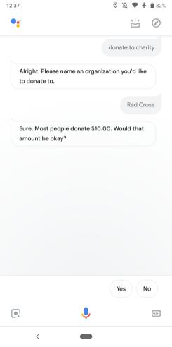 Google Assistant donations