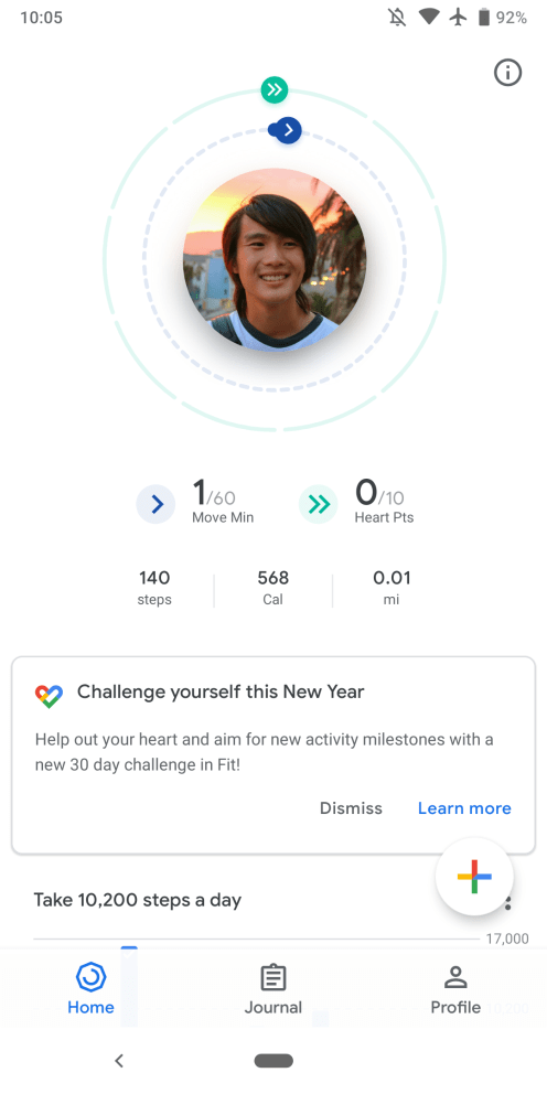 Google Fit monthly challenges