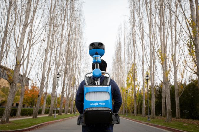 Google Street View Trekker backpack