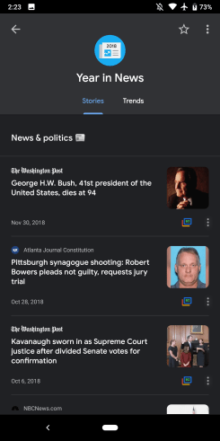 Google News 2018 recap