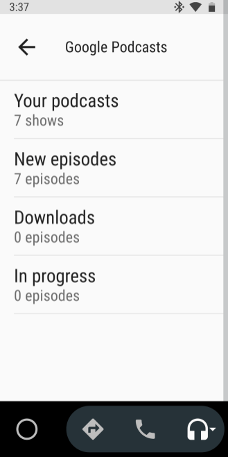 Google Podcasts Android Auto-3
