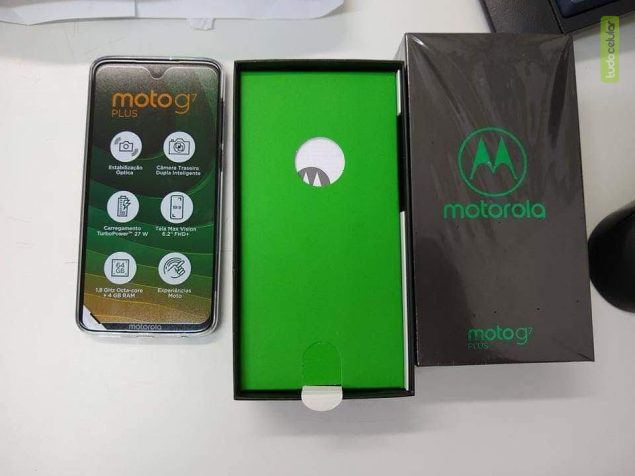 Moto G7 Plus retail packaging