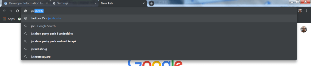 Google Chrome Dark Mode Windows omnibox