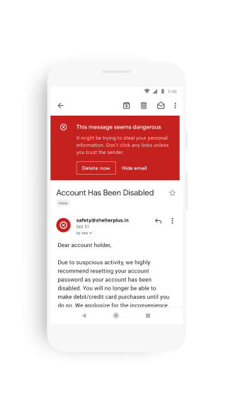 Gmail Android iOS Google Material Theme