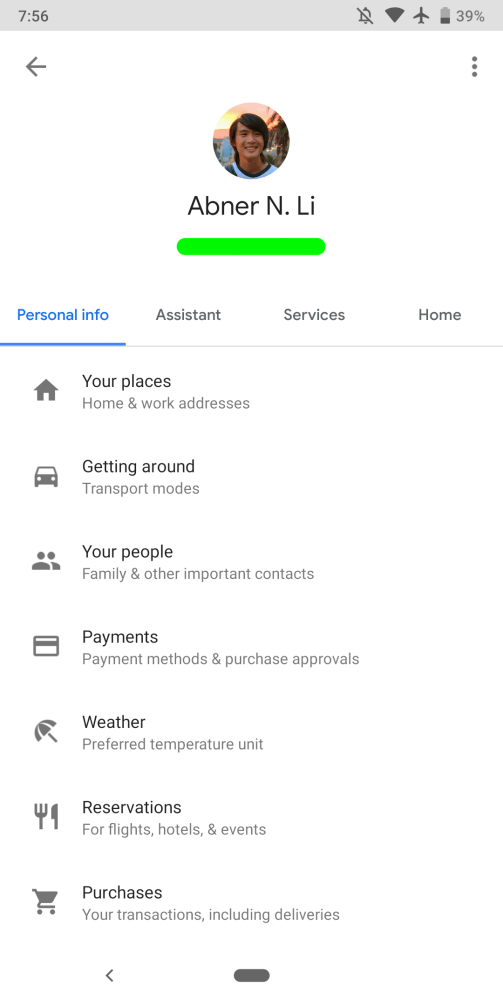 google-app-9-5-assistant-settings