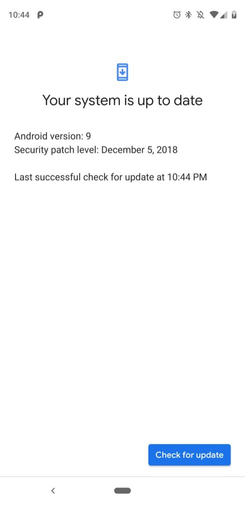 Pixel Check for update Material Theme