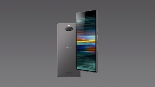 Xperia 10 Key Visual_Silver Vertical