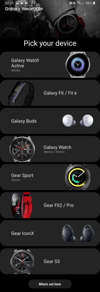 Samsung wearables lineup