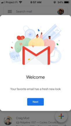 Gmail iOS Material Theme redesign