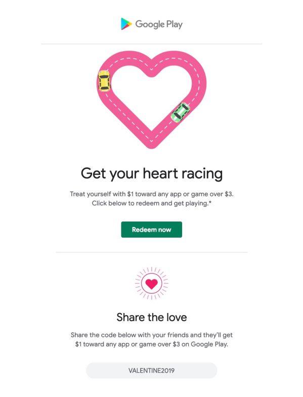 Google Play Store Valentine's Day