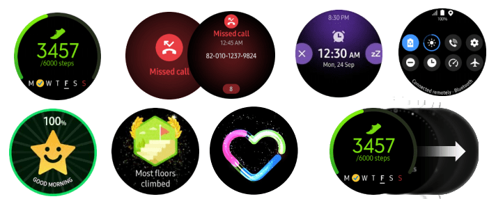 active galaxy clock with only one ui