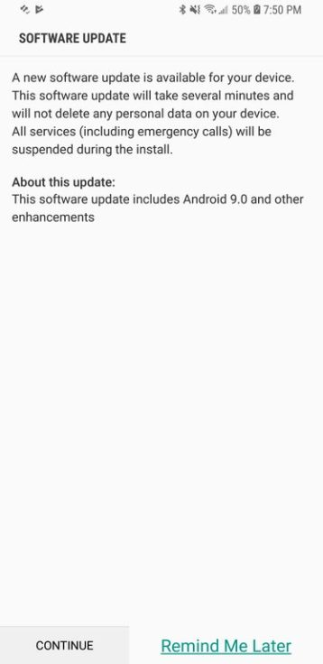 AT&T Android Pie S8