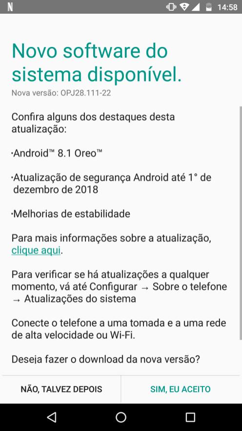 Motorola Moto G4 Android Oreo update