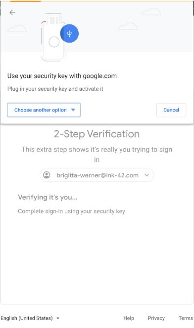 Google 2-step verification update
