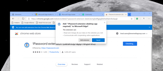 Chromium-based Edge Chrome Web Store