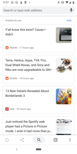 Chrome for Android Articles for you