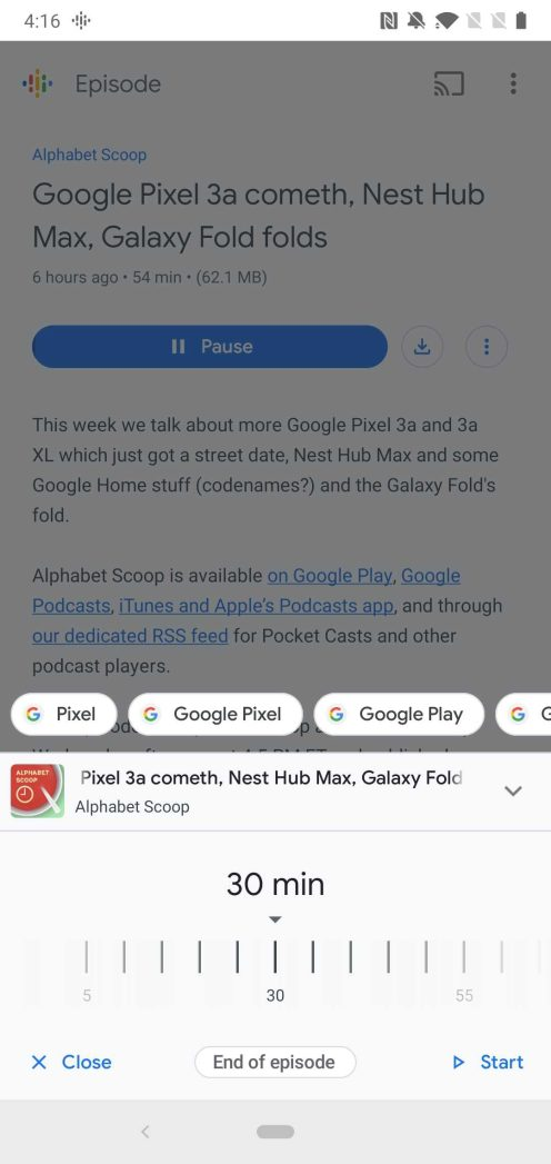 Google app 9.72