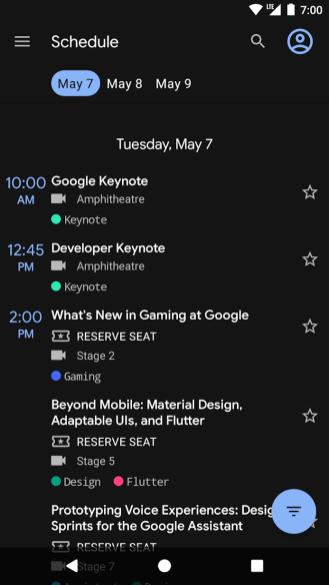 Google IO 2019 app