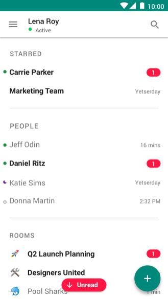 Hangouts Chat organization revamp