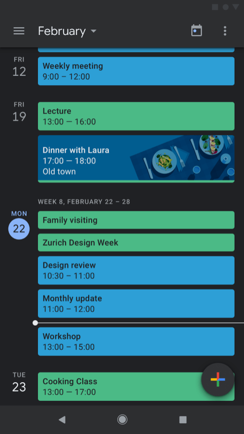 Google Calendar dark mode-2