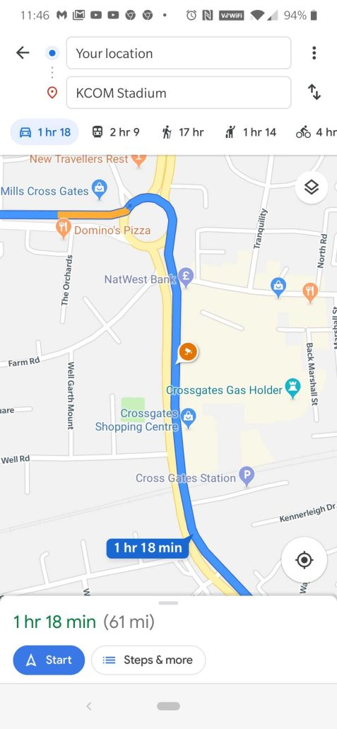 Google Maps speed camera locations