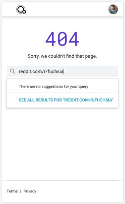 Fuchsia.dev search