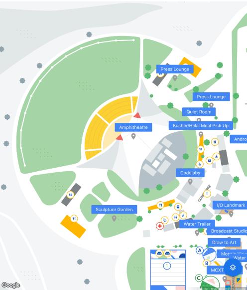 Google IO 2019 map