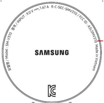 samsung smaller smart speaker FCC label