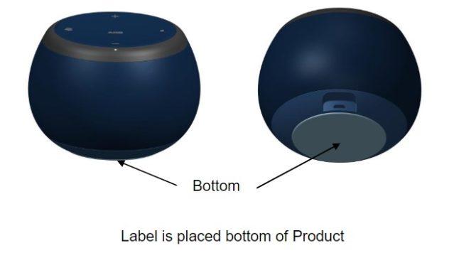 samsung smaller smart speaker FCC label location