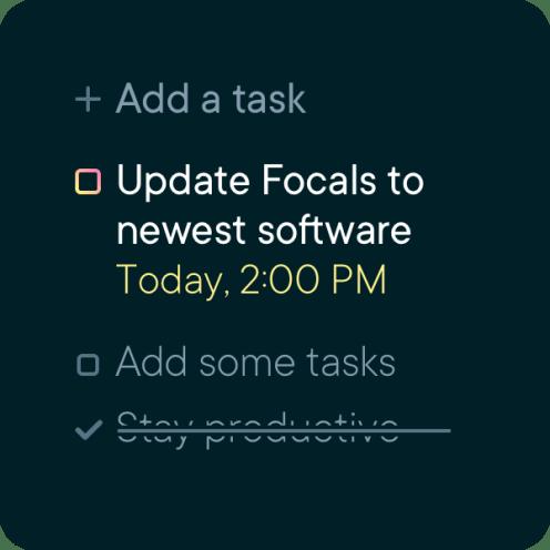 Focals Google Tasks
