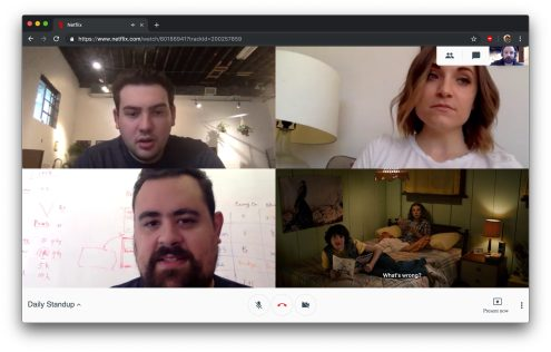Netflix Hangouts Chrome extension