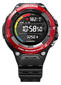 casio wsd-f21hr red